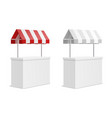 promotion counter 3d exhibition stand mockup with vector image vector image