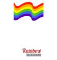 rainbow flag background waving lgbt flag on vector image