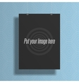 Realistic black blank mockup for your Design vector image vector image
