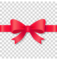 red bow icon on transparent background holiday vector image