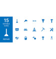 repair icons vector image vector image