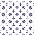 seamless nautical pattern with anchors and vector image