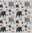 seamless pattern of sheep vector image