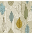 Seamless Pattern with a stylized trees Fall vector image vector image