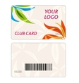 set colorful business cards vector image