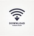 sign download over the wireless network vector image