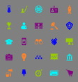 SME color icons on gray background vector image vector image