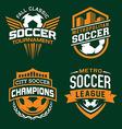Soccer sport emblem set vector image vector image