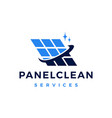 solar panel cleaning service logo icon vector image
