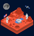 space discovery concept 3d isometric view vector image