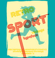 sport 76 font vector image vector image