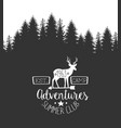 summer adventures club label template retro vector image vector image
