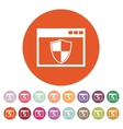The antivirus icon Firewall and safety vector image