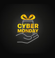 the cyber monday concept vector image vector image