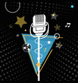 the symbol microphone vector image