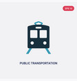two color public transportation icon from vector image vector image