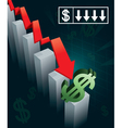 US Currency Crash vector image