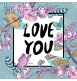 Vintage garden spring greeting card Floral design vector image vector image