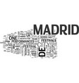 what you need to know about madrid travel text vector image vector image