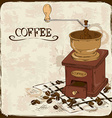 with coffee grinder vector image vector image