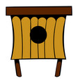 wooden beehive icon icon cartoon vector image vector image