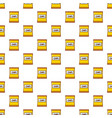 yellow pouch of potato chips pattern seamless vector image vector image