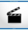 clapperboard web icon vector image