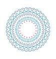 christmas pattern circle on vector image