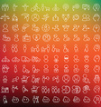 One hundred icons set for applications and vector image