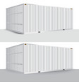 3d perspective white cargo container shipping vector image vector image