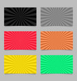 abstract colored ray burst pattern card vector image vector image
