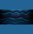 abstract dark blue background with horizontal vector image vector image