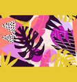 abstract modern tropical paradise collage vector image