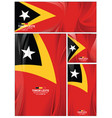 abstract timor leste flag background vector image vector image