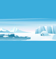 arctic landscape with ice house flat vector image