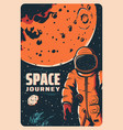 astronaut in outer space mars exploration