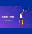 basketball championship promo banners cover vector image