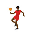 basketball player with ball male african american vector image