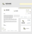 beach business letterhead envelope and visiting vector image vector image
