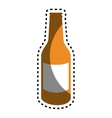 beer bottle isolated icon vector image vector image