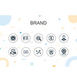brand trendy infographic template thin line vector image vector image