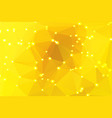 bright golden yellow geometric background with vector image vector image