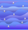 bright simple sea and boat vector image vector image