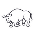 bull fightspain line icon sign vector image