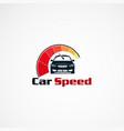 car speed logo designs concept modern icon vector image vector image