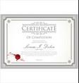 certificate 4 vector image vector image