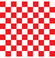 checkered red and white pattern vector image vector image
