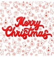 Christmas card 3d lettering on white background vector image vector image
