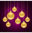 christmas violet background vector image