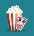 cinema ticket entrance icon vector image vector image